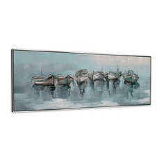 On the Water Framed Canvas