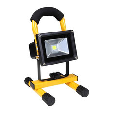 Rechargeable outdoor lighting houzz yeshom 10w rechargeable cordless led flood light yellow outdoor flood and spot lights aloadofball Image collections