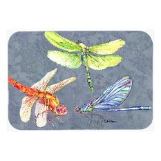 Dragonfly Times Three Glass Cutting Board, Large