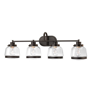 Luxury Industrial Bath Vanity Light, Nottingham Series, Olde Bronze