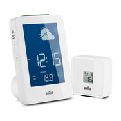 Braun Radio Controlled Weather Station, White