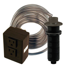 Raised Button Disposal Air Switch and Dual Outlet Control Box, Oil Rubbed Bronze