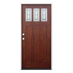 Exterior Pre-Gung Prefinished Door, Mahogany, Right Hand