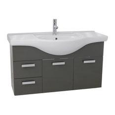 39-inch Bathroom Vanity Set Glossy Anthracite