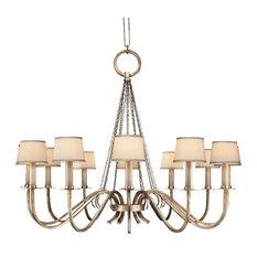 Fine Art Lamps 420840ST Portobello Road Platinized Silver Chandelier