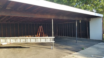 Completed Siding in car port