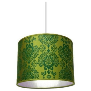 Pachyderme Baroque N'Roll Lampshade, Green, Small
