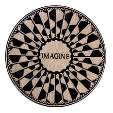 "Modern Mosaic Medallion, Imagine, 24""x24"""