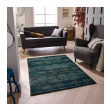 Gabbeh 2275 B Green Rectangle Traditional Rug 200x285cm