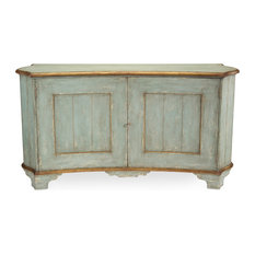 John Richards Claude French Country Light Blue Gold Gilded Buffet Sideboard Buffets And Sideboards