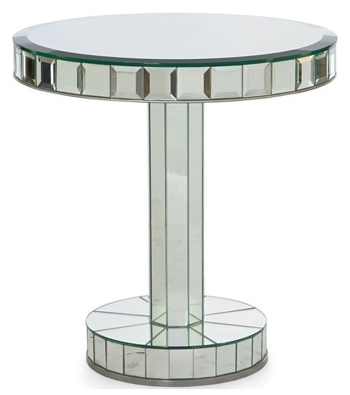 81B-627 Mirror Glass Chairside Table