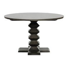 "Zig-Zag Base Dining Table, 48"", Pale"