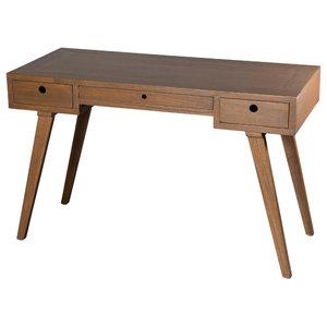 Fancy Scandinavian Writing Desk, Cinnamon