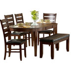 Homelegancela Inc Homelegance Euro Casual 5 Piece Round