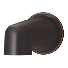 Elm Non-Diverter Tub Spout, Seasoned Bronze