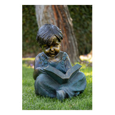 Boy Reading Book Statue