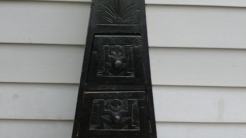I picked up this antique 4 drawer hand carved cabinet from a flea market,  wondering if anyone has any info on pieces like this? TIA :-) - Can You Help Me Identify This Antique Apothecary (?) Cabinet?