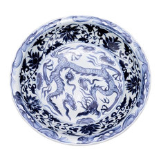 Plate Dragon Colors May Vary Blue White