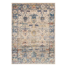 "Anastasia Rug, Sand and Light Blue, 2'7""x10'"