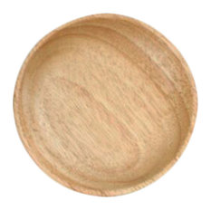 Wooden Dinnerware Fruit, Meat, Dessert Plates, Round Shape Dishes, 12.5cm