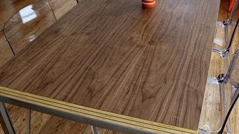 Walnut Ply Stack Dining Table