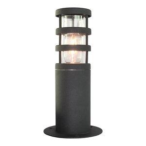 Outdoor Pedestal Lantern, Black
