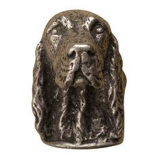 Irish Setter knob, Bronze Rubbed