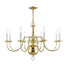 Williamsburgh Chandelier, Polished Brass