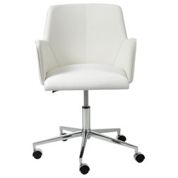 Perfect Contemporary Office Chairs Sunny Office Chair White and Chrome