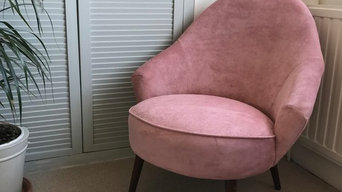Pink Suede bedroom chair