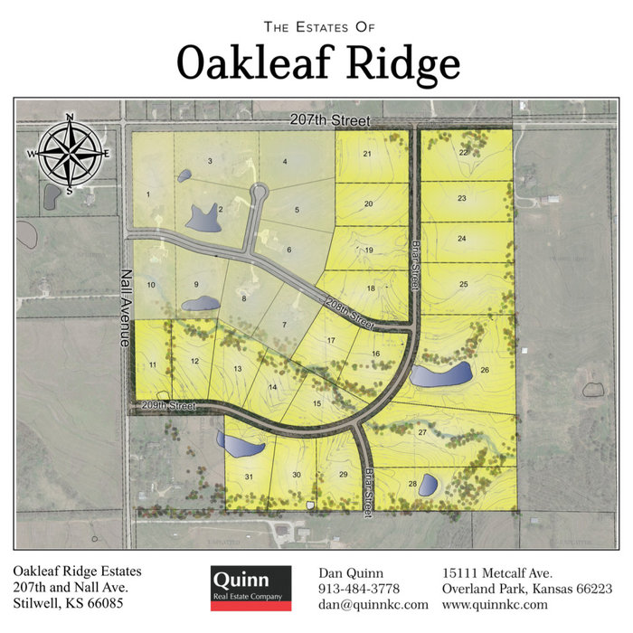 Oakleaf Ridge Estates Second Phase 207th and Nall Avenue For Sale