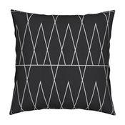 Conifer Pine Tree Trian Black White Dark Grey Throw Pillow Velvet