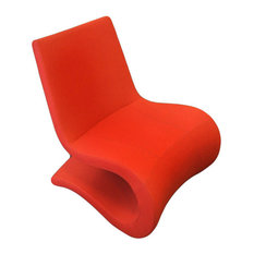 Flow Lounge Chair, White Leatherette