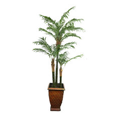 6 Ft. 3-Trunk Areca Palm in Metal  3671
