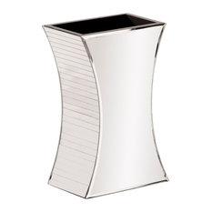 Howard Elliott Curved Rectangular Mirrored Vase, Small
