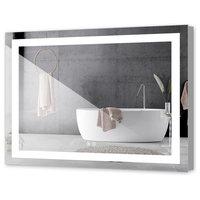 "LED Backlit Mirror Illuminated Bathroom Mirror With Sensor Touch, 48""x36""-2 Butt"