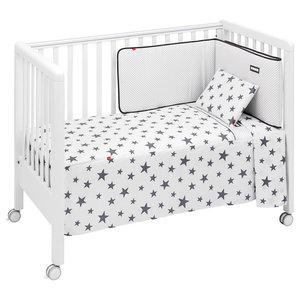 Universe 5-Piece Cot Bedspread Set, Grey, 70x140 cm