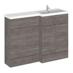 Victoria Combinations Bathroom Vanity Unit, Grey-Brown, Right-Hand, 120 cm