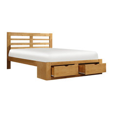 New Bretton Bed With Oak Finish, Double
