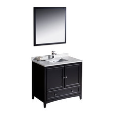 "Fresca Oxford 36"" Espresso Traditional Bathroom Vanity"
