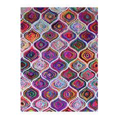 Chindi Patterned Multicoloured Floor Rug, 245x155 cm