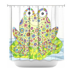 DiaNoche Designs   Shower Curtain Unique From DiaNoche Designs   The  Cheerful Frog   Shower Curtains