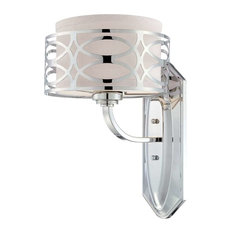 Bathroom Vanity Lights With Fabric Shades linen shade vanity light bathroom vanity lights   houzz