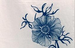 Sea Flower Tea Towel, Blue