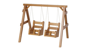 Wooden Doll Playground Swings, Unfinished