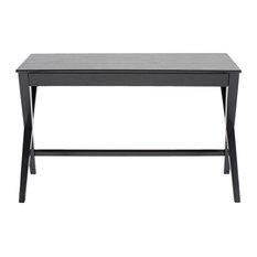 Writix Desk, Black Oak Veneer