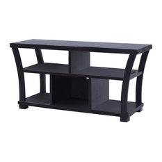 Corner Black Leather Chair