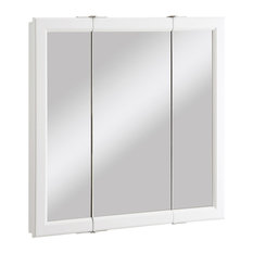 Bay   Tanager 3 Panel Medicine Cabinet, White   Medicine Cabinets