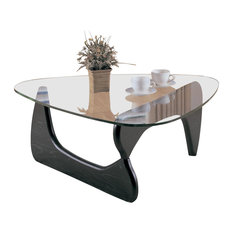 Homelegance Homelegance Chorus Cocktail Table With Glass Top Coffee Tables