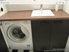 Besoin d 39 aide pour r novation salle de bains et mobilier - Superposer un seche linge sur un lave linge ...
